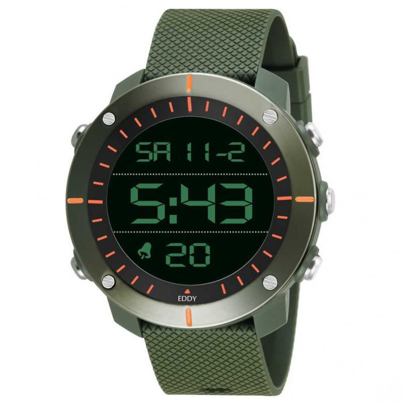 800 Digital Army Green Sports Digital Watch - For Men