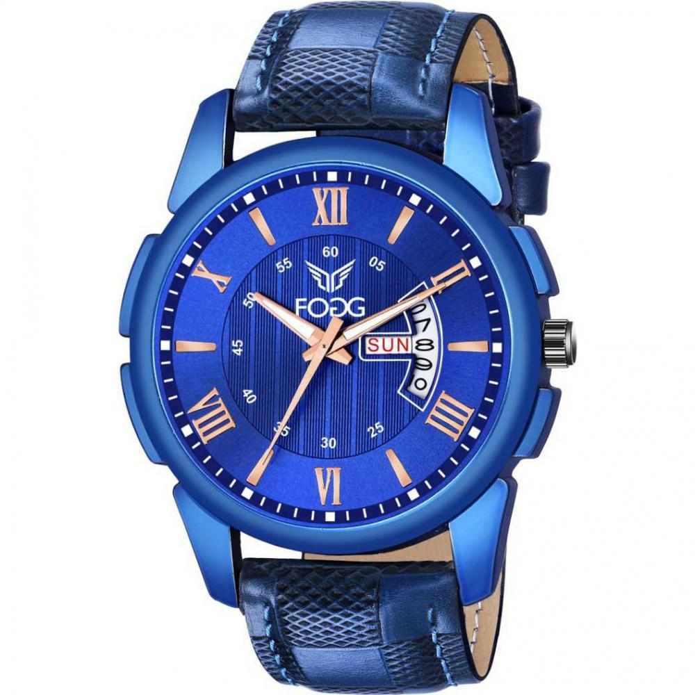 1200-BL Blue Day and Date Analog Watch - For Men